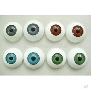 8pcs Scare Eyes Eyeballs Fit Mask Skull Halloween Props