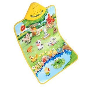 Multicolor Animal Farm Musical Music Touch Play Carpet Mat Blanket Kid Baby Toy