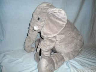 "Large Jumbo 24"" Soft Floppy Plush IKEA Klappar Mother Elephant Stuffed"