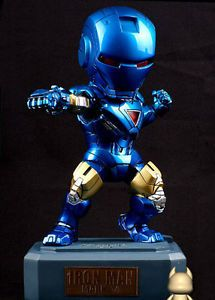 MK6 Red Kids Logic Marvel Iron Man Blue Egg Attack LED Resin Model Toy Figure