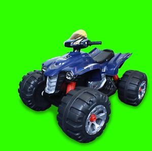 Brand New 12V Battery Powered Electric Kids Ride on Toy ATV Car 4 Wheel Blue
