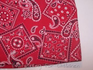 Boys Kelly's Kids Shorts 5 6 New Red Bandana Western