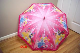 New Kids Childrens Cute Cool Disney Cartoon Characters Boys Girls Rain Umbrella