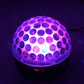 Digital RGB LED Crystal Magic Ball Effect Light DMX512 Disco DJ Stage Lighting