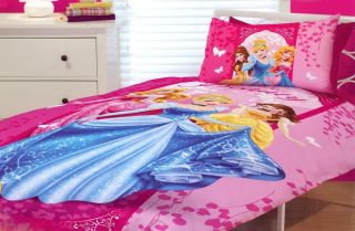 Disney Princess Bedding Quilt Cover Set Girls Kid Cinderella Sleeping Beauty Toy