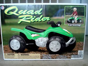 American Plastic Toys Kids Quad Rider 4x4 Ride on Toy Rugged ATV Style Green New