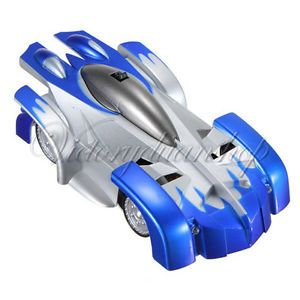 Mini RC Remote Control Wall Floor Climbing Car Racer Racing Car Toy Kids Blue