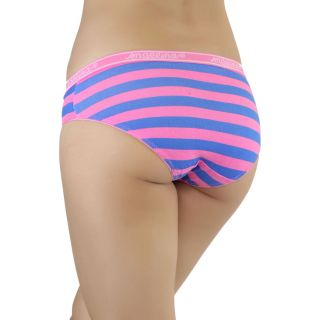 Women's 6 Pack Soft Striped Cotton Bikini Panty Underwear with Elastic Waist
