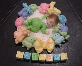 Fondant Edible Baby Nursery Animals Cake Toppers Favors Decorations Baby Shower