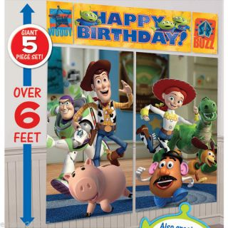 Disney Toy Story Giant Scene Setter Poster Birthday Party Supplies Decoration
