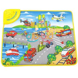 Kids Cars Road Musical Music Touch Play Singing Baby Gym Carpet Mat Toy 2919