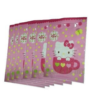 Sanrio Hello Kitty Birthday Party Supply x6 Gift Loot Bags H161
