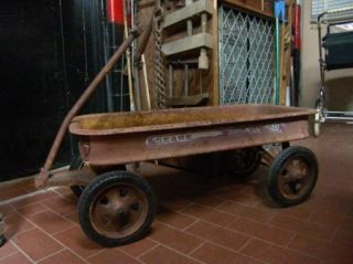 Vintage Childs  Little Red Wagon Metal XL 500 Toy Wagon