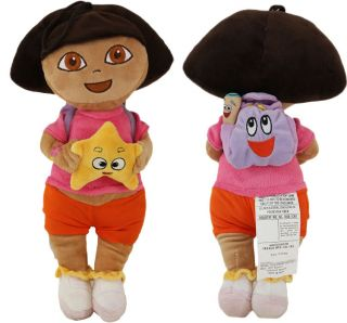 NEW 40cm HEIGHT PLUSH DORA EXPLORER SOFT PINK DOLL GIRLS KIDS TOYS XMAS GIFT