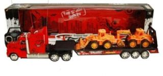 King Hauler Speed Truck RC Remote Control Transporter Carrier Trailer Tractor NW