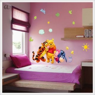 Winnie The Pooh Friends Butterfly Removable Kids Room Decor Wall Decal Sticker