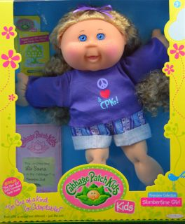 Cabbage Patch Kids Doll Liv Sasha Blonde Hair Freckles Blue Eyes November 2