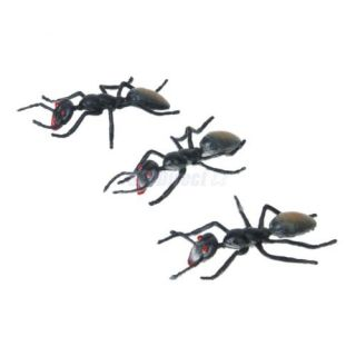 3pc Kids Science Nature Education Realistic Black Fake Ant Joke Magic Trick Toy