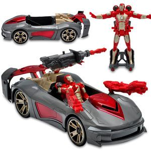Marvel Iron Man 3 Avengers Initiative Assemblers Battle Vehicle Toys for Kids