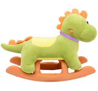 Kids Rocking Horse Dragon Styled Plush Ride on Toy Rocking Animal