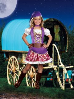 Child Kids Girls Fortune Teller Gypsy Princess Costume Halloween Dress Outfit