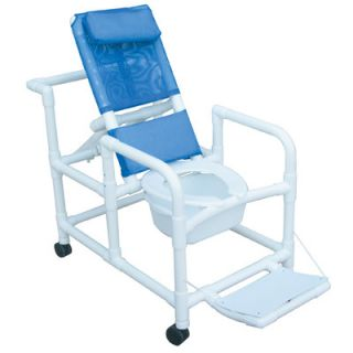 MJM International Echo Reclining Shower Chair with Footrest