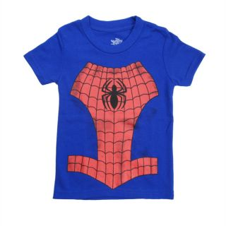 2 6 Years Infant Toddler Kids Boys Spiderman Short Sleeve T Shirt Tee Tops D2001