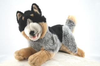 "Cattle Dog Blue Healer Soft Plush Toy Stuffed Animal 11""28cm New Rusty"