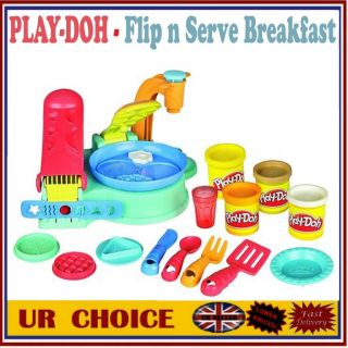 Play Doh Dough Flip N Serve Breakfast Maker Creative Cooking Toy Kids Fun Game