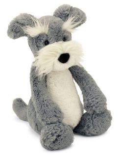 Jellycat Bashful Schnauzer Puppy Dog Medium Stuffed Animal Plush New