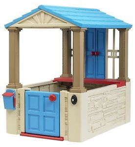 Kids Girl Play Big House Indoor Outdoor Toy Home House Childrens Cottage Fort