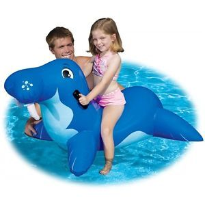 Wally Walrus Pool Ride on Kids Inflatable Swimming Toy Intex Kiddie Float Raft
