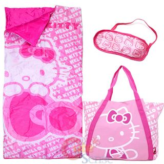 Sanrio Hello Kitty Sleepover Set Kids Sleeping Bag with Tote Bag