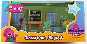 PBS Kids Barney Friends Figures Classroom Playset B J Riff Baby Bop