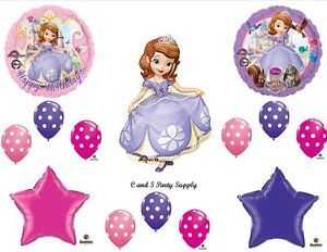 Princess Sofia The First Happy Birthday Party Balloons Decorations Supplies Dots