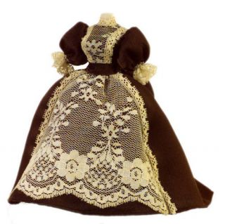 Doll House Sewing Ecru Victorian Dress Form Fabric Model Figure 1 12 Scale