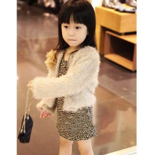 Pretty Baby Toddler Kids Girls Faux Fur Floral Coat Winter Warm Jacket