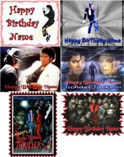 Edible Cake Image Michael Jackson Party Icing Sheet Topper 6 to Pick From