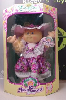 Cabbage Patch Kids Doll Limited Edition 10th Anniversary Blonde Hasbro