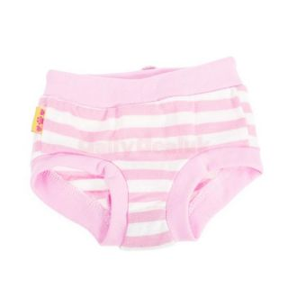 Female Pet Dog Cotton Sanitary Pant Panty Striped Diaper Brief Size L