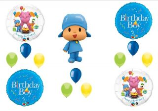 Pocoyo Friends Boy Happy Birthday Party Balloons Decorations Supplies