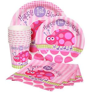 Pink Ladybug 1st Birthday Party Supplies Choose Items You Need Baby Shower