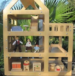 Large Wooden Doll House Pottery Barn Dolls Wood Plan Toys Ryan's Furniture