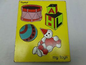 Vintage Retro 60's Preschool Kids Wooden Puzzle Toy Playskool My Toys