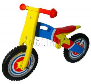 Kids Wooden Balance Walking Bike First Running Training Bicycle Rider Boys Girls