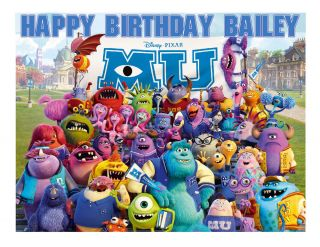 Monsters Inc Monsters University Edible Image Decoration Party Cake Topper