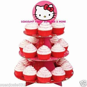 Hello Kitty Cupcake Stand Cupcake Party Supplies