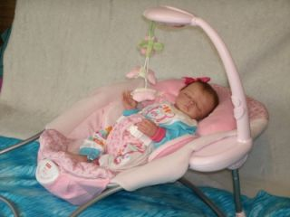 Gorgeous Baby Girl's Papasan Musical Vibrating Soother Bouncer by Fisher Price
