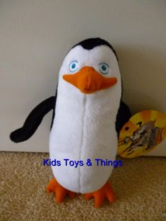 The Penguins of Madagascar Kowalski Penguin Soft Plush Toy Doll BNWT 21cm