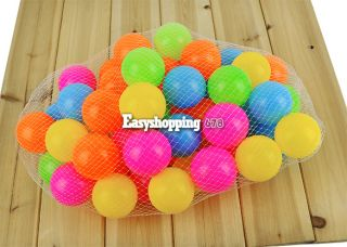 Kid's 50pcs Soft Plastic Pit Ball Bright Color Play Tunnel Toy Pets ES9P